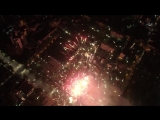Салют в Кишиневе в честь Дня Победы сняли с высоты птичьего полета