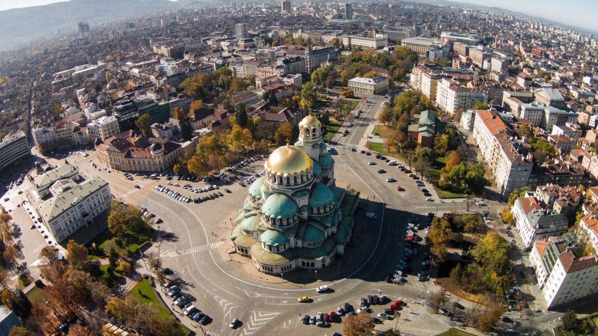 Панорамный вид центра Софии