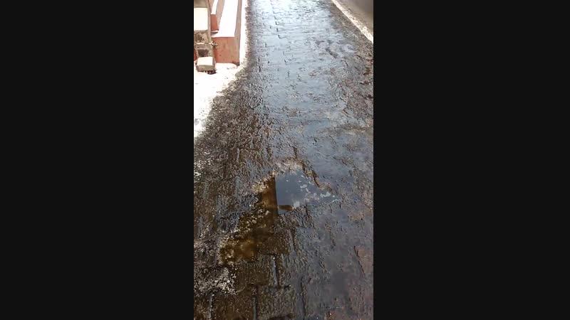 Мокрые в мороз от реагентов улицы