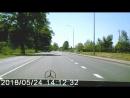 Утка с утятами переходят дорогу в неположенном месте (смотреть на 02:30)