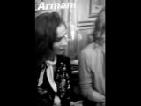 Isabelle Huppert attends the Giorgio Armani Prive
