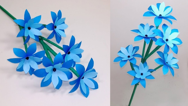 How to Make Very Beautiful Paper Stick Flower Stick Flower Handcraft Jarine's Crafty Creation