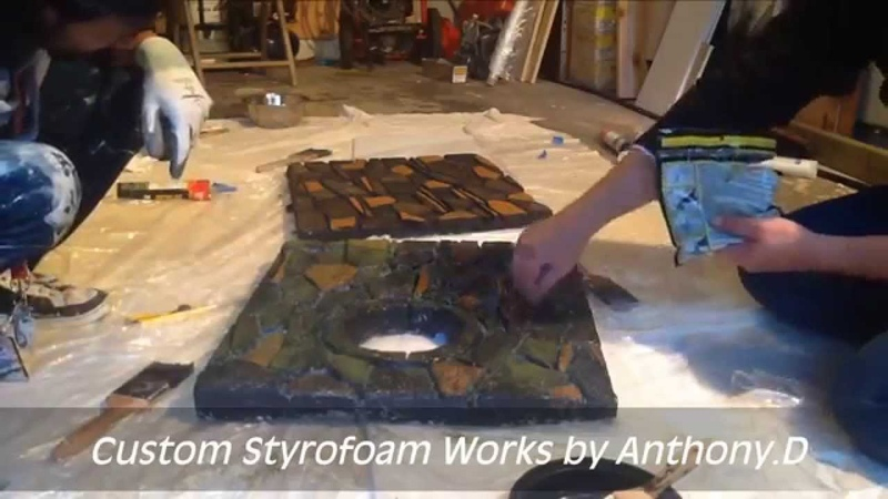 How to make a DIY Aqaurium Background, Carving Styrofoam