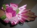 Бутоньерка на руку для свидетельницы.Свадьба в цвете Фуксии часть 5 / Wedding flowers