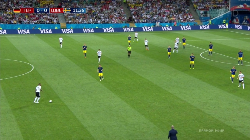 Чемпионат мира 2018. Футбол. Германия- Швеция. ГруппаF 2-й тур. (22.06.18). HD 720p