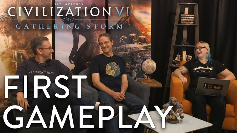 Civilization VI Gathering Storm - FIRST GAMEPLAY (MESSAGE FROM SID MEIER)