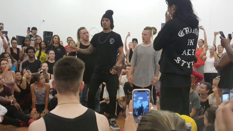 Les Twins Montreal workshop | Cypher and Larry's freestyle to MyBoi