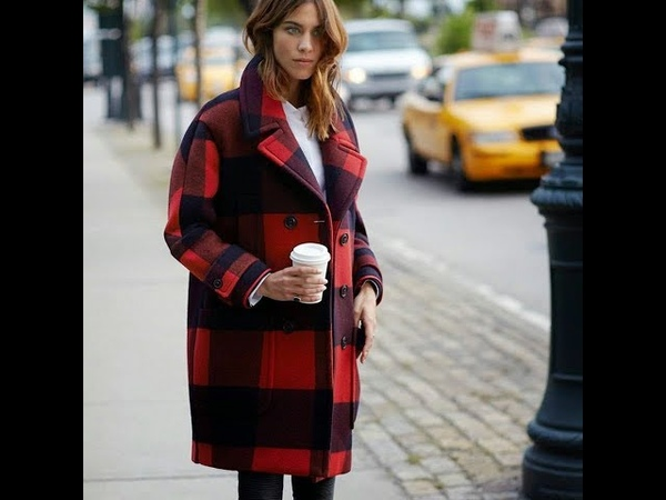 Chic plaid coats for fall 2018