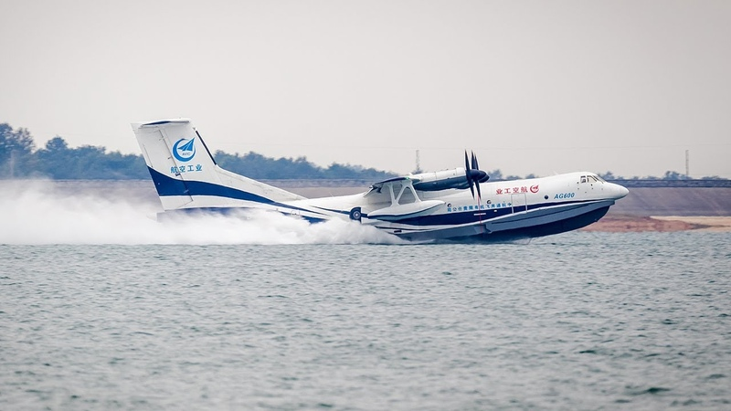 World's largest amphibious aircraft completes first water takeoff in central China