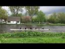 Woman coaching rowers falls off her bike