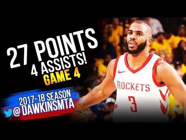 Chris Paul Full Highlights 2018 WCF Game 4 Warriors vs Houston Rockets - 27 Pts! | FreeDawkins