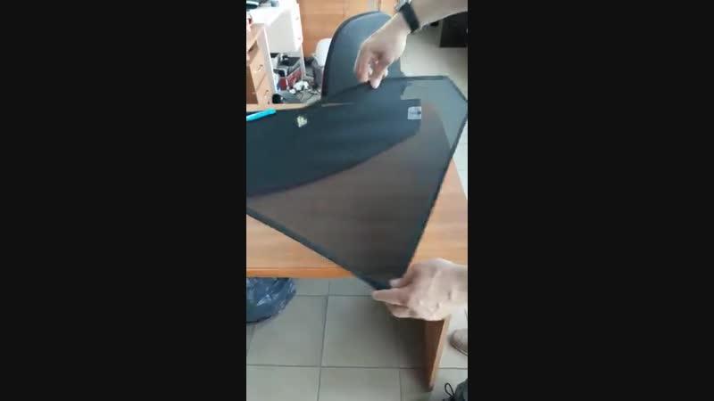 Как расправить каркасные шторки