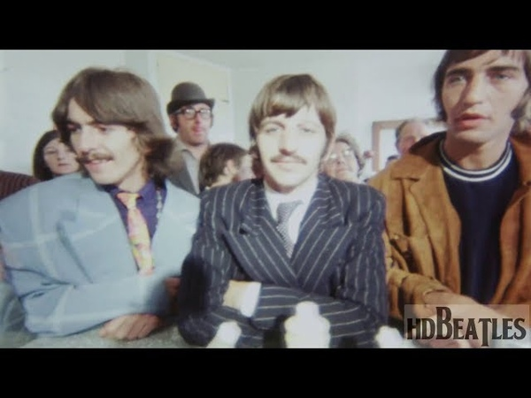 The Beatles visiting a chip shop during filming of Magical Mystery Tour [Taunton, Somerset]