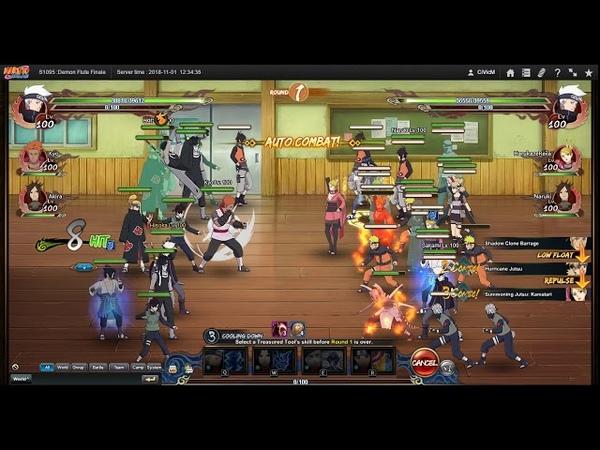 Naruto ナルト Online NS D66 3vs3 System Error Return after Refreash Fix 2 Battles 1st 3vs3 Win
