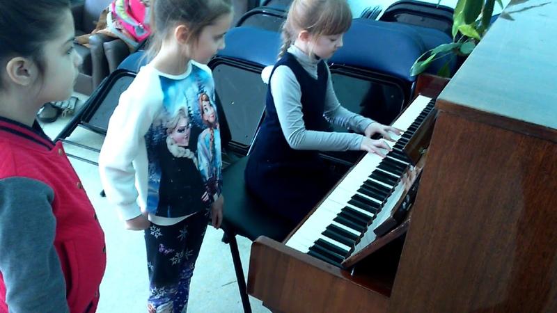 Сектор Газа - Туман пианино (cover) девочка 7 лет, 2017 год