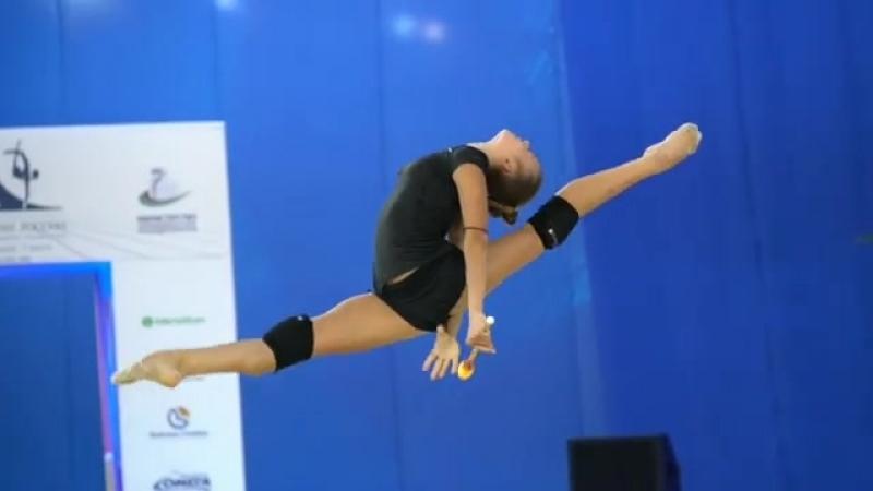 Александра Солдатова - булавы (тренировка) Чемпионат России 2018