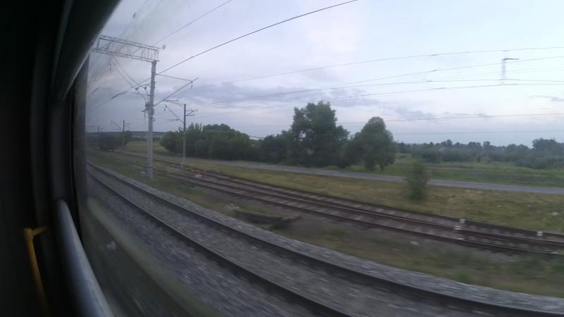 Перегон Беломестная―о.п.Шопино в вагоне электропоезда ЭД4М-0166