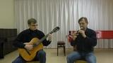 Эксперименты с семистрункой. Гитара и флейта. Владимир Косма, Сырба. (V. Cosma, Sirba).