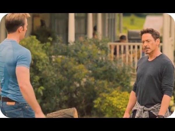 Vingadores: Era de Ultron (2015)   Tony Stark e Steve Rogers Conversando DUBLADO PT-BR (HD)