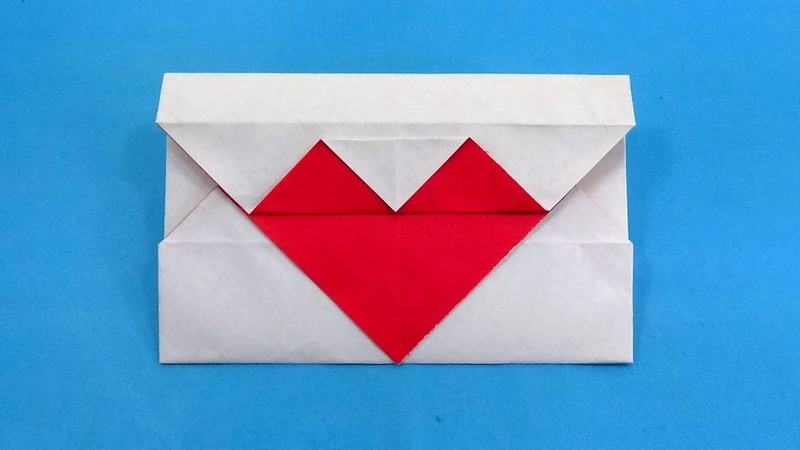 DIY Origami Valentines Day Heart Envelope - Make a Gift Card Envelope Easily