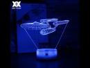 3D настольная лампа космический корабль