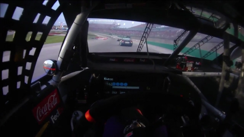 11 - Denny Hamlin - Onboard - Kentucky - Round 19 - 2018 Monster Energy NASCAR Cup Series