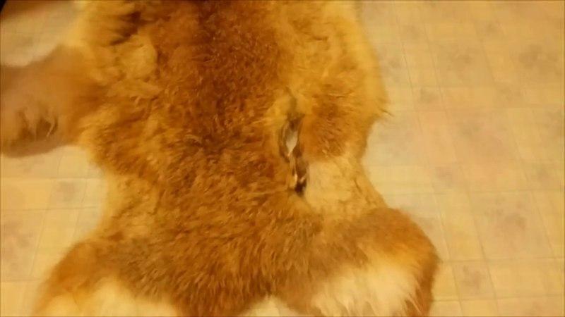 исправление дефектов меха, скорняжный шов.