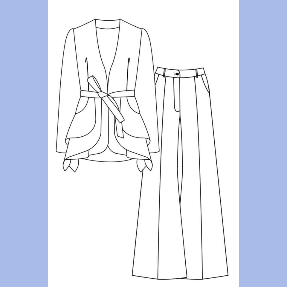 Женственный брючный костюм - основа делового гардероба сезона SS 2019