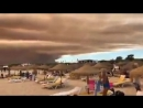 WOW Shocking eerie view of the sky over Vilamoura in Portugal covered in thick smoke fr
