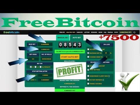 7500 SATOSHI за пару минут на FreeBitcoin | Стратегия с предохранителем