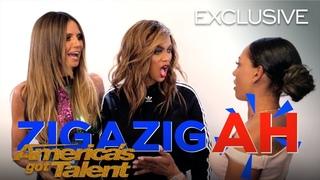 Mel B Teaches Zig-A-Zig Ah To Heidi Klum And Tyra Banks - America's Got Talent 2018