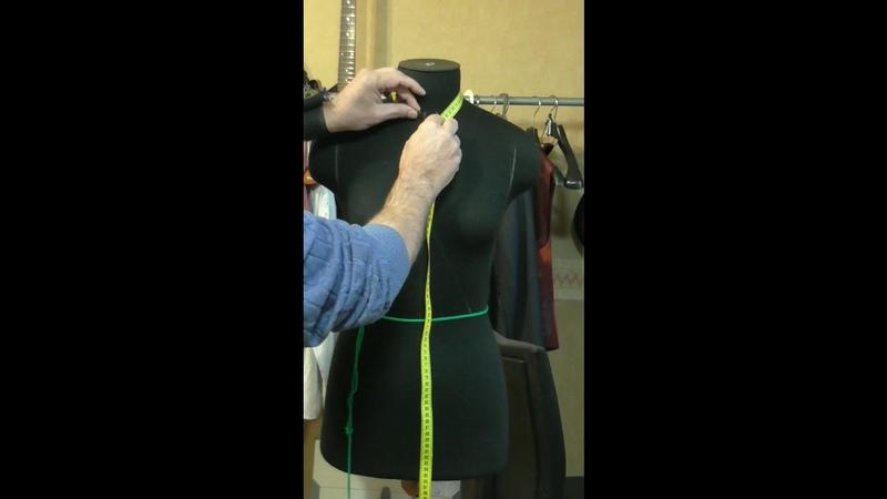 Эскиз, снятие мерок на примере бархатного концертного платья (Vladi Saden)