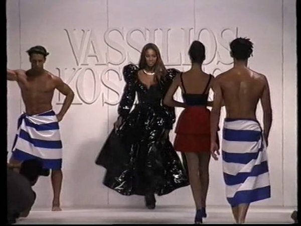 Vassilios Kostetsos Historical Fashion Show Starring Legends Supermodels Linda Christy Naomi