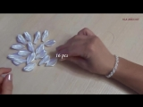 Цветы из атласной ленты_Канзаши_Ribbon Flower Tutorial_Kanzashi Flowers_Flores de fitas_Ola ameS DIY