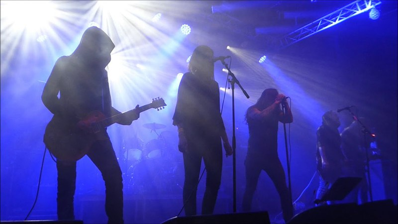 Hallatar feat Heike Langhans Gallows Bird by Trees Of Eternity Live at Stockholm Slaughter Sweden 27 04 2018