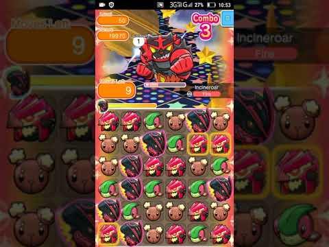 Pokemon Shuffle - Incineroar Escalation Battle 50 lvl