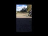 Первый раз. Раздал на заднем. Yamaha Jog Aprio