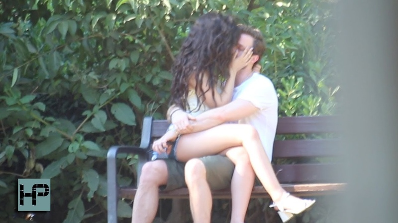Camila Cabello and Matthew Hussey - Hot Make Out Session in Barcelona Park
