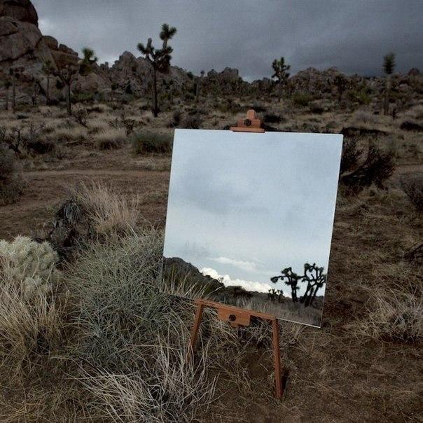Картины в зеркалах Нью-йоркский фотограф представил серию снимков на которых зеркала-мольберты отражают окружающие