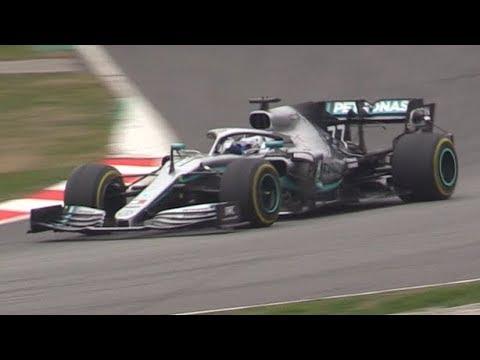 F1 2019 PreSeason Barcelona Test Day 3-Pit Stop Practice,Sparks,Sound More