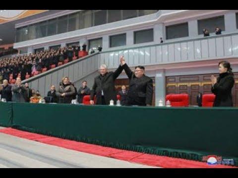 경애하는 최고령도자 김정은동지께서 꾸바공화국 국가리사회 위원장 겸 내