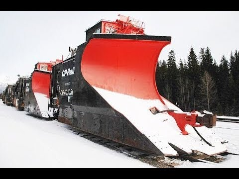 Trains Plowing Snow In Action★Awesome Powerful Trains Plowing Through Deep Snow 2017 2018