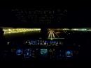 Ночная посадка А380 в аэропорту Дубая