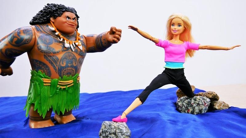Школа Гимнастики Барби на природе - Выручаем Мауи из сети!