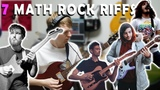 7 Famous Math Rock Riffs - The Fall of Troy, CHON, Tiny Moving Parts, TTNG, Clever Girl, Tera Melos