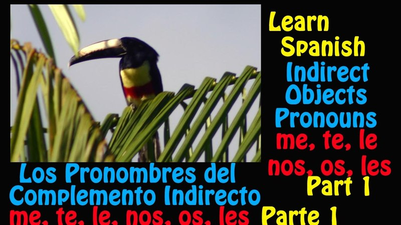 Learn Spanish- Indirect Object Pronouns (me, te, le, nos, *os, les) – Part 1