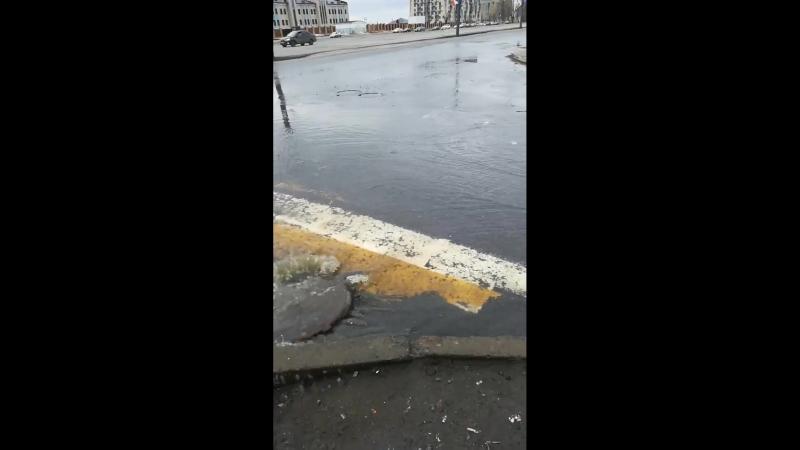 Потоп на Морском. Водители и пешеходы, будьте внимательны!