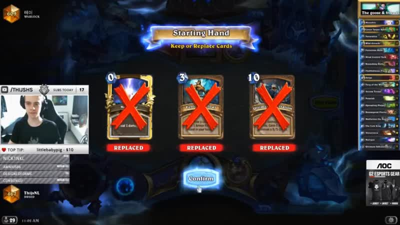[Mental Pro Players Reloaded and Funny Moments] Thijs plays Malygos Druid in LEGEND The BoomsDay Project