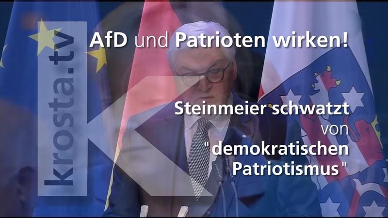 AfD und Patrioten wirken! - Weimar - Steinmeier schwatzt von demokratischen Patriotismus