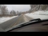 Трассу М-5 под Златоустом засыпало снегом